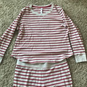 Gilligan and O'malley Red Striped Pajama Set